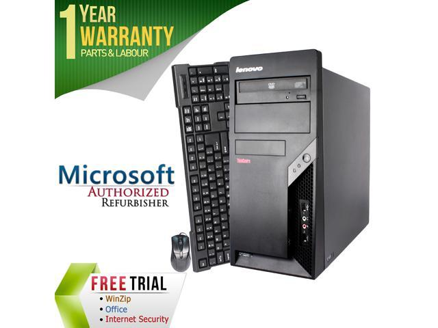 Refurbished Lenovo M57 Tower Intel Core 2 Duo E6550 2.33G / 4G DDR2 / 250G / DVD / Windows 7 Professional 64 Bit / 1 Year Warranty