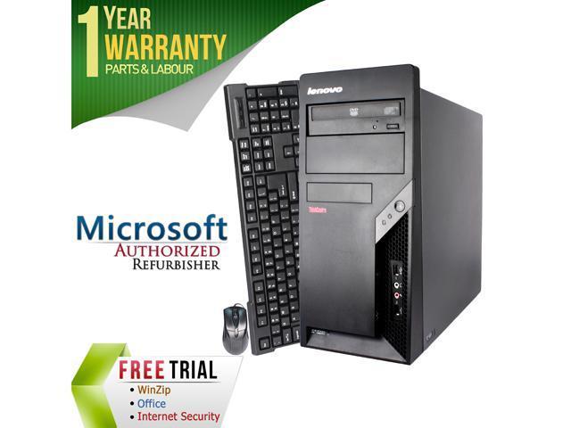 Refurbished Lenovo M57 Tower Intel Core 2 Duo E6550 2.33G / 4G DDR2 / 250G / DVD / Windows 7 Professional 64 Bit / 1 Year Warranty