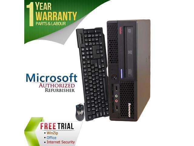 Refurbished Lenovo M58P Ultra Slim Intel Core 2 Duo E8400 3.0G / 4G DDR3 / 160G / DVD / Windows 7 Professional 64 Bit / 1 Year Warranty