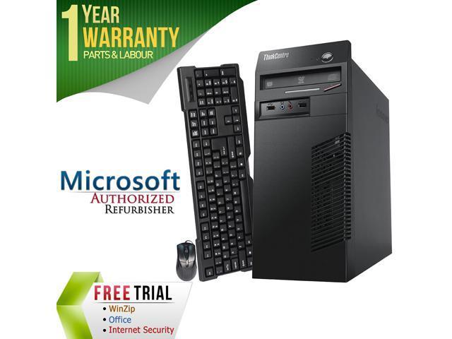Refurbished Lenovo M70E Tower Intel Core 2 Duo E8400 3.0G / 4G DDR3 / 250G / DVD / Windows 7 Professional 64 Bit / 1 Year Warranty