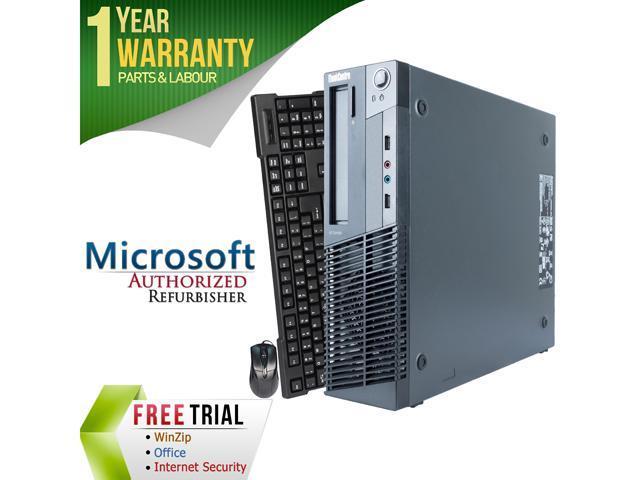 Refurbished Lenovo M78 Slim/Small form factor AMD A6-Series APU 5400B 3.6G / 4G DDR3 / 320G / DVD / Windows 7 Professional 64 Bit / 1 Year Warranty