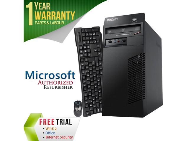 Refurbished Lenovo M79 Tower AMD A4-Series APU 6300B 3.7G / 4G DDR3 / 250G / DVD / Windows 7 Professional 64 Bit / 1 Year Warranty