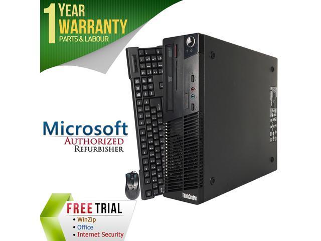 Refurbished Lenovo M73 Slim/Small form factor Intel Core i3 4130 3.4G / 4G DDR3 / 2TB / DVD / Windows 7 Professional 64 Bit / 1 Year Warranty