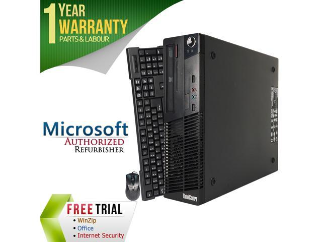 Refurbished Lenovo M73 Slim/Small form factor Intel Core i5 4570 3.2G / 8G DDR3 / 2TB / DVD / Windows 7 Professional 64 Bit / 1 Year Warranty