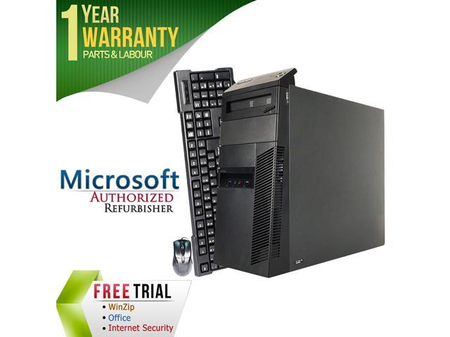 Refurbished Lenovo ThinkCentre M82 Desktop Tower Intel Core i5 3470 3.2G / 4G DDR3 / 250G / DVD / Windows 7 Professional 64 Bit / 1 Year Warranty