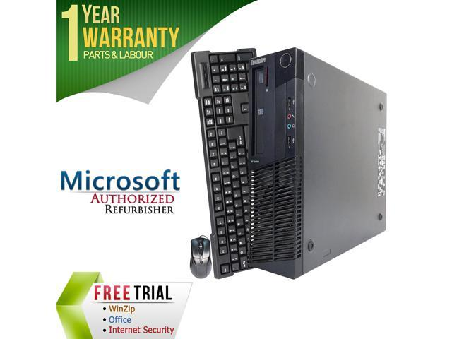 Refurbished Lenovo ThinkCentre M91P Desktop SFF Intel Core i3 2100 3.1G / 8G DDR3 / 2TB / DVD / Windows 7 Professional 64 Bit / 1 Year Warranty