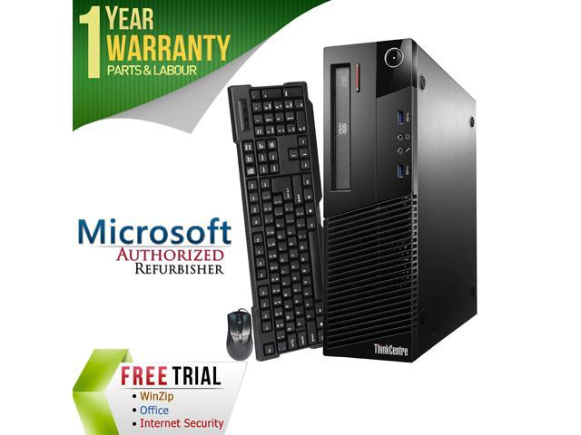 Refurbished Lenovo ThinkCentre M93P Desktop SFF Intel Core i5 4570 3.2G / 8G DDR3 / 2TB / DVD / Windows 7 Professional 64 Bit / 1 Year Warranty