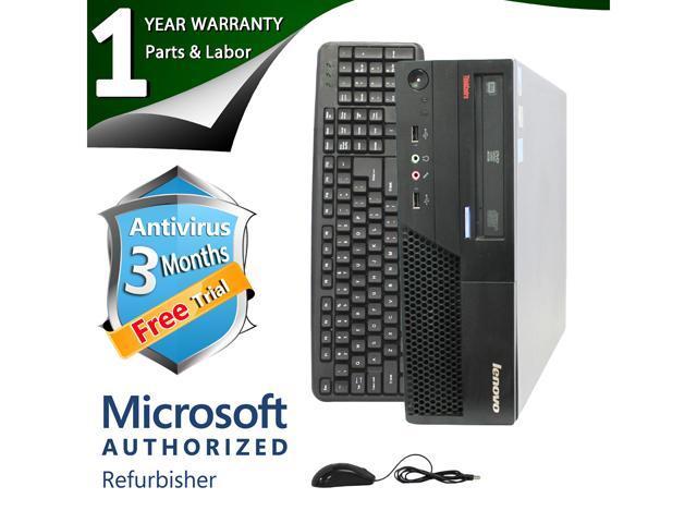 ThinkCentre Desktop Computer M58P Core 2 Duo E8400 (3.00 GHz) 8 GB DDR3 1 TB HDD Intel GMA 4500 Windows 7 Professional 64-Bit