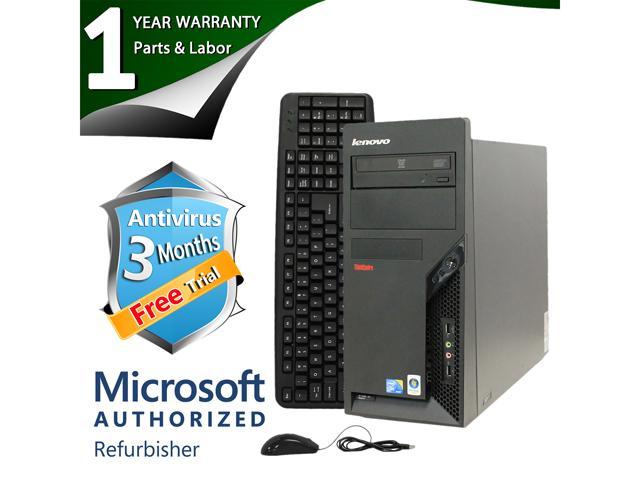 ThinkCentre Desktop Computer M58P Core 2 Duo E8400 (3.00 GHz) 4 GB DDR3 2 TB HDD Windows 7 Professional 64-Bit