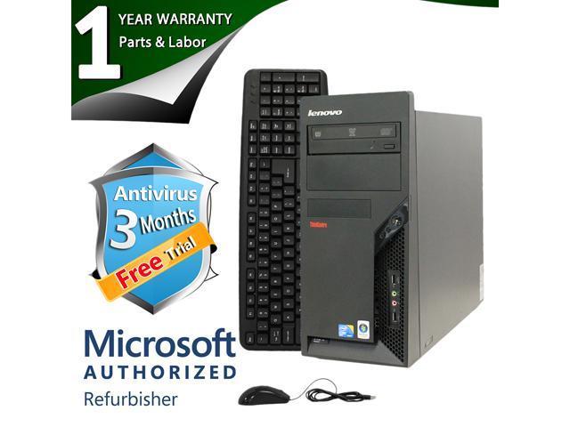 ThinkCentre Desktop Computer M58P Core 2 Duo E8400 (3.00 GHz) 8 GB DDR3 1 TB HDD Windows 7 Professional 64-Bit