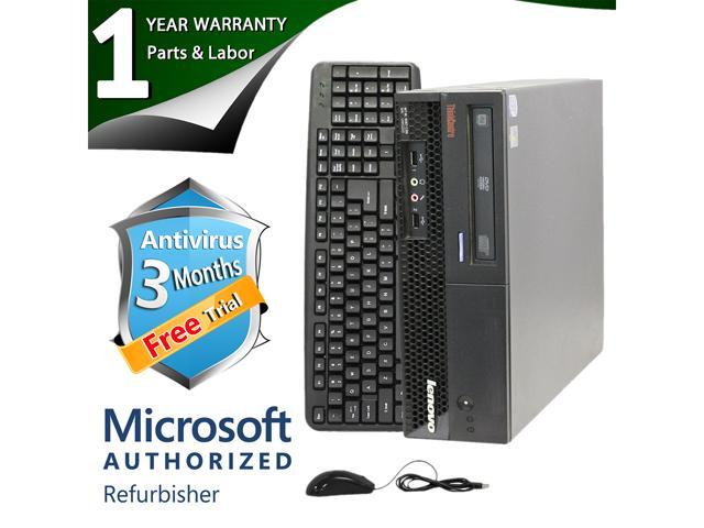 ThinkCentre Desktop Computer M58P Core 2 Duo E8400 (3.00 GHz) 4 GB DDR3 160 GB HDD Windows 7 Professional 64-Bit