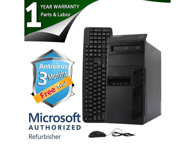 ThinkCentre Desktop Computer M91p Intel Core i7 2600 (3.40 GHz) 4 GB DDR3 250 GB HDD Windows 7 Professional 64-Bit