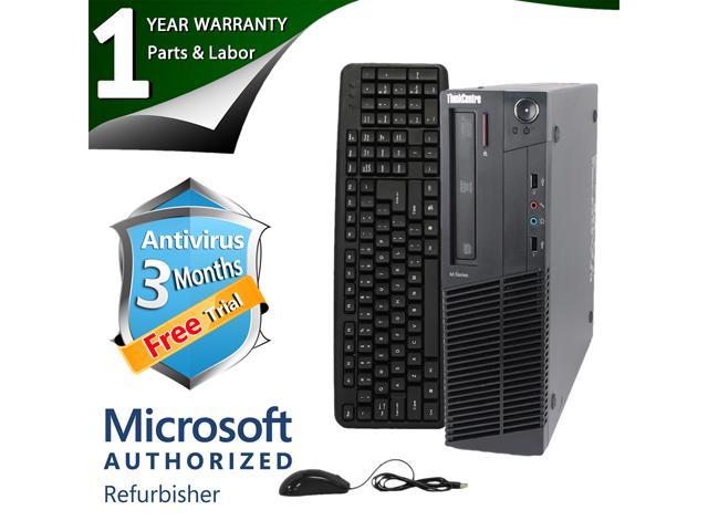 Lenovo Desktop Computer M91P Intel Core i3 2nd Gen 2100 (3.10 GHz) 4 GB DDR3 250 GB HDD Intel HD Graphics 2000 Windows 7 Professional 64-Bit