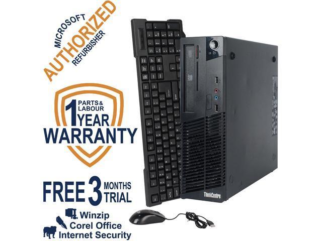 Lenovo Desktop Computer M73 Intel Core i3 4th Gen 4130 (3.40 GHz) 8 GB DDR3 1 TB HDD Windows 7 Professional 64 Bit
