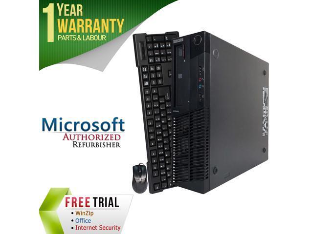 Lenovo Desktop Computer M81P Intel Core i3 2nd Gen 2100 (3.10 GHz) 8 GB DDR3 1 TB HDD Windows 7 Professional 64-Bit