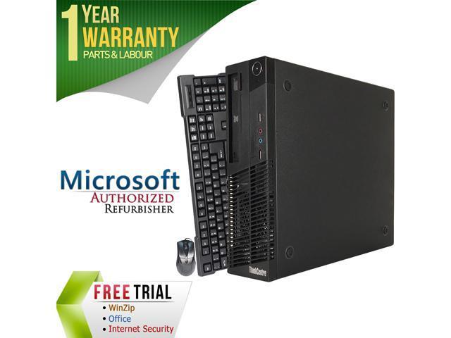 Lenovo Desktop Computer M72 Intel Core i3 3rd Gen 3220 (3.30 GHz) 8 GB DDR3 1 TB HDD Intel HD Graphics 2500 Windows 7 Professional 64-Bit
