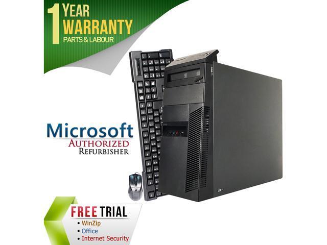 Lenovo Desktop Computer M81 Intel Core i3 2100 (3.10 GHz) 8 GB DDR3 2 TB HDD Intel HD Graphics 2000 Windows 7 Professional 64-Bit
