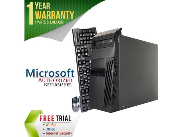 Lenovo Desktop Computer M91 Intel Core i5 2nd Gen 2400 (3.10 GHz) 4 GB DDR3 250 GB HDD Intel HD Graphics 2000 Windows 7 Professional 64-Bit