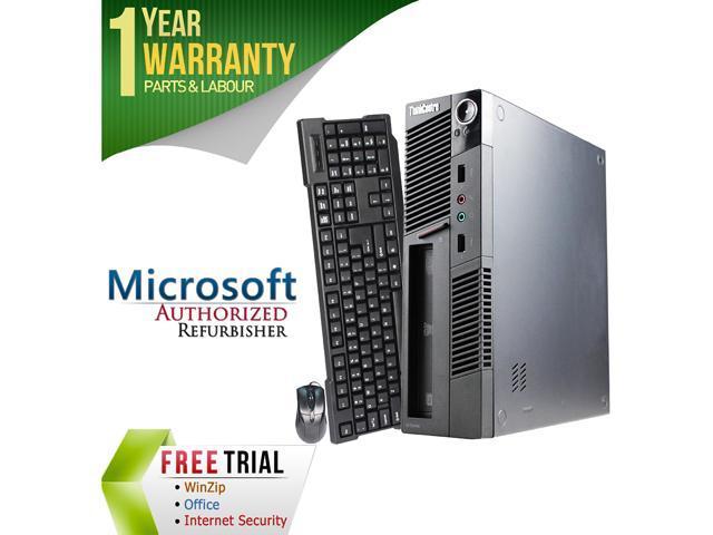Lenovo Desktop Computer M91 Intel Core i5 2nd Gen 2400S (2.50 GHz) 4 GB DDR3 250 GB HDD Intel HD Graphics 2000 Windows 10 Pro 64-Bit
