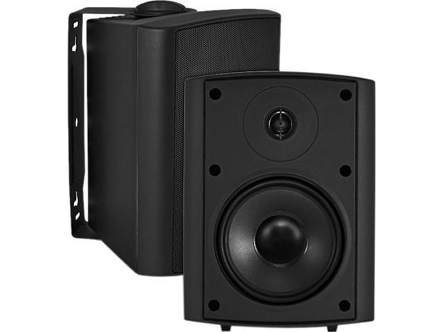 "OSD Audio AP450 4"" 110W Outdoor Patio Speaker, Pair, Black"