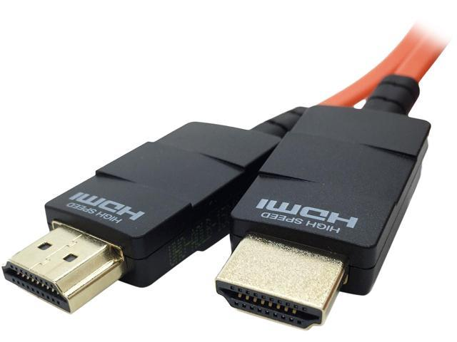 Unive UHO-15LB 49.21 ft. Black HDMI to HDMI Active Fiber Optic AOC High Speed HDMI Cable/ Plenum Rated M-M