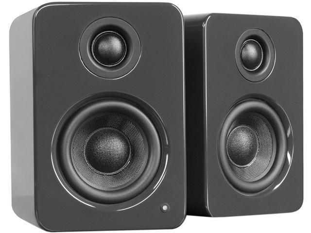 Kanto Living YU2 Powered Desktop Speakers, Glossy Gray