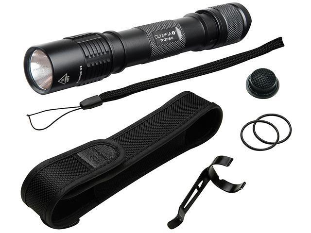 Olympia RG260 High-Performance Rugged Flashlight - Black