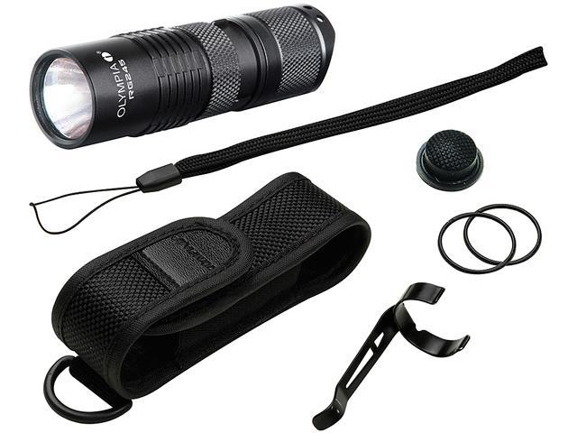 Olympia RG245 High-Performance Rugged Flashlight - Black