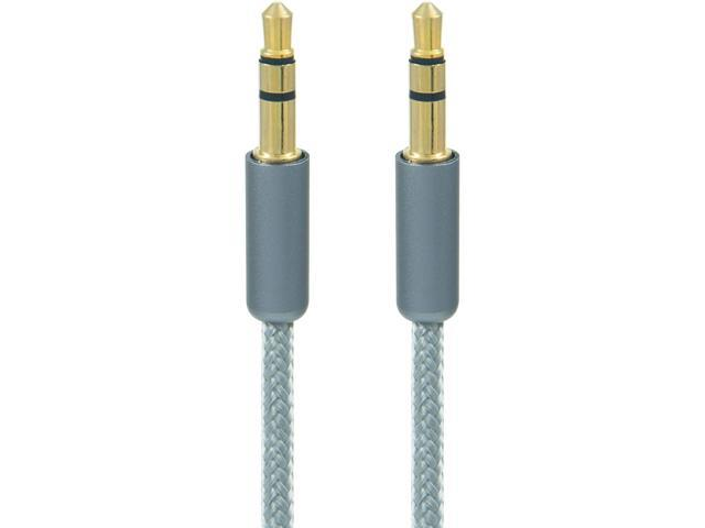 Link Depot FLD-35M-3GRY 3 ft. High End 3.5mm Audio Cable