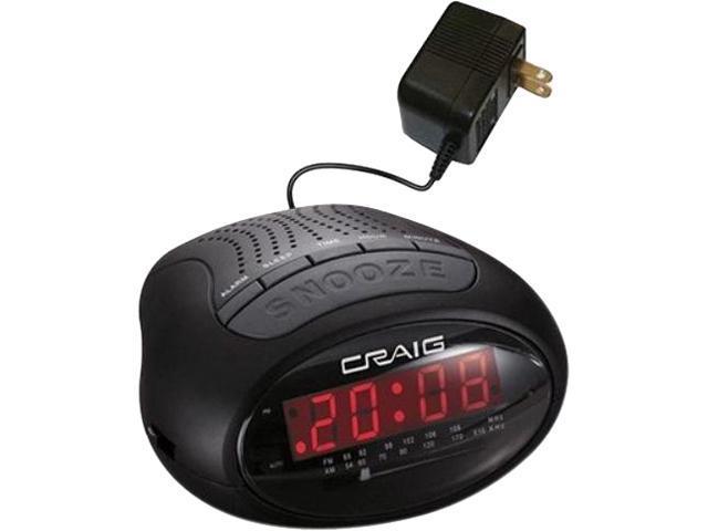 craig 0 6 inch dual alarm clock digital pll am fm radio with bluetooth wireless technology. Black Bedroom Furniture Sets. Home Design Ideas
