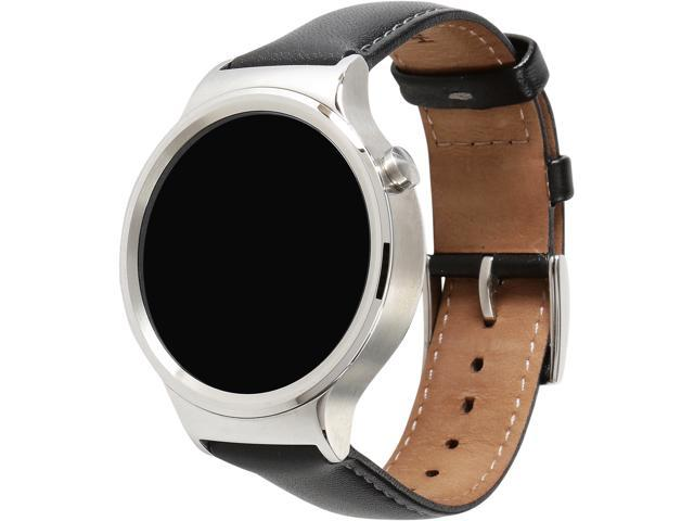 Huawei 55020533-RF Smart Watch Stainless Steel with Black Suture Leather Strap Model Minor Scratch on Watch Silver