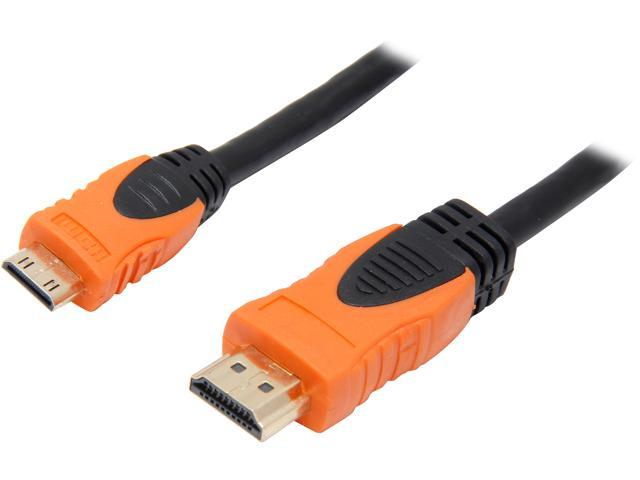 VCOM VC-HDMI/MI 6 ft. HDMI® 1.3V to Mini HDMI® High Speed with Ethernet Cable,Gold Plated