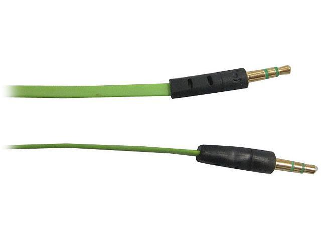 AWA Technology Inc. CB-10035MMBG ROCKSOUL 3.5mm to 3.5mm stereo audio cable Green