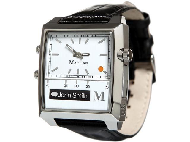 Martian MP100WSB Passport Watch White/Silver/Black