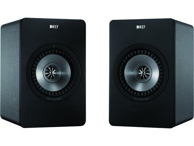 KEF X300A Digital Hi-Fi Speakers Gun Metal Finish