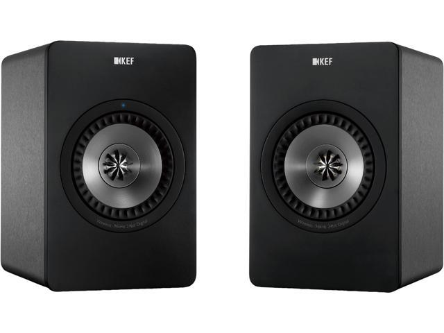 KEF X300AWGM Wireless Digital Hi-Fi Speakers Gun Metal Finish