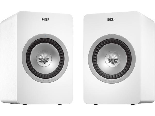 KEF X300AWWH Wireless Digital Hi-Fi Speakers Linear White Finish
