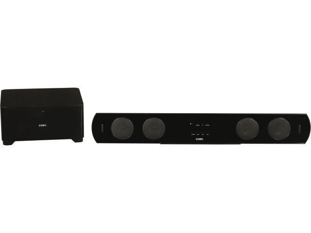 Coby CSMP95 2.1 CH Super Slim Wireless Soundbar with Subwoofer