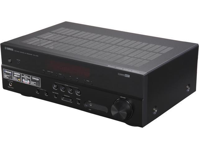 yamaha rx v381 5 1 channel a v receiver black. Black Bedroom Furniture Sets. Home Design Ideas