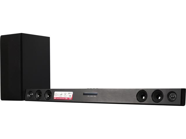 LG LAS465B 2.1ch 300W Sound Bar with Wireless Subwoofer and Bluetooth Connectivity
