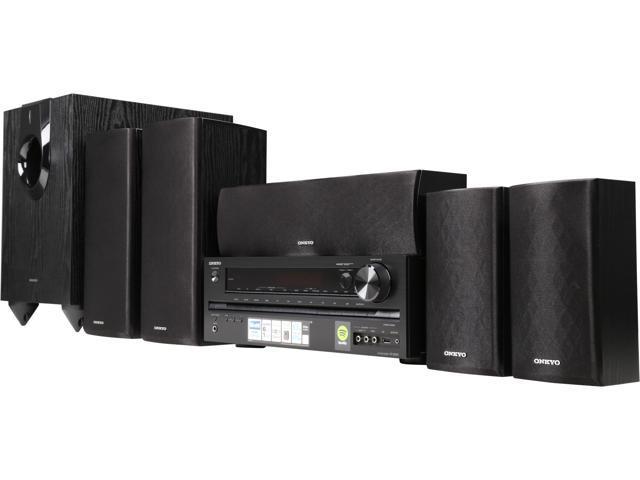 onkyo ht s5700 5 1 channel network a v receiver speaker package newegg