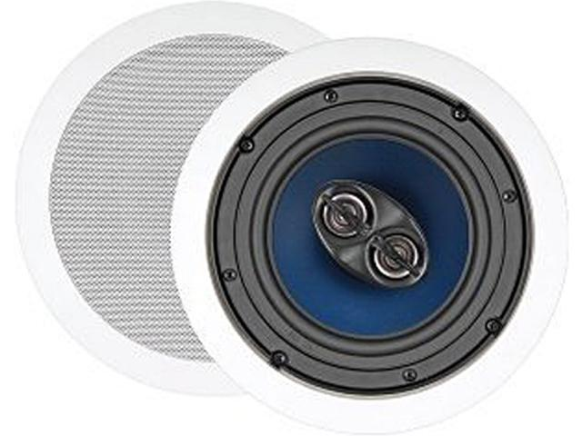 """Steren Premier Series 730-202 2 CH 6 1/2"""" Two-Way Dual Voice Coil Stereo Ceiling Speaker (Ea) Single"""