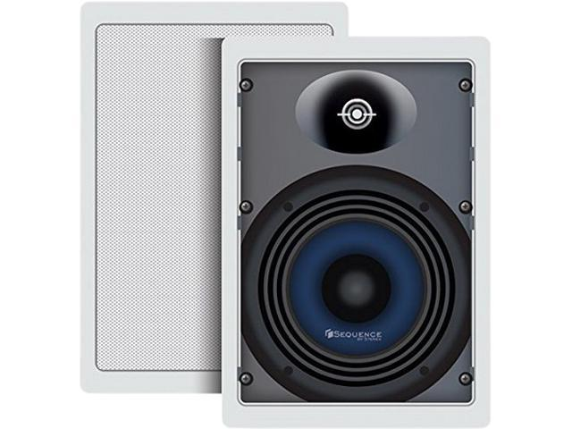 "Steren Premier Series 730-204 2 CH 6 1/2"" Two-Way In-Wall Speakers With Pivoting Dome Tweeters (Pr) Pair"