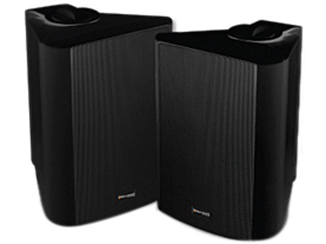 """Steren 730-350BK 5 1/4"""" Indoor/Outdoor Weather Resistant Speakers (Pr) Pair"""