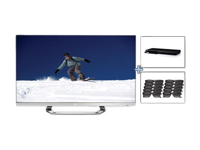 """LG 55"""" 1080p 120Hz LED-LCD HDTV with 3D Glasses and Blu-ray Player Bundle 55LM6700W3DGLASSESBL"""