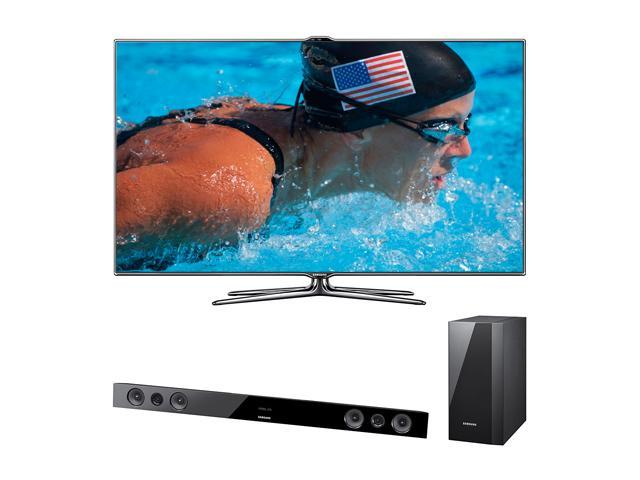 "Samsung 55"" Class (54.6"" Diag.) 1080p 120Hz LED HDTV With Soundbar Bundle UN55ES7500/HWE450"