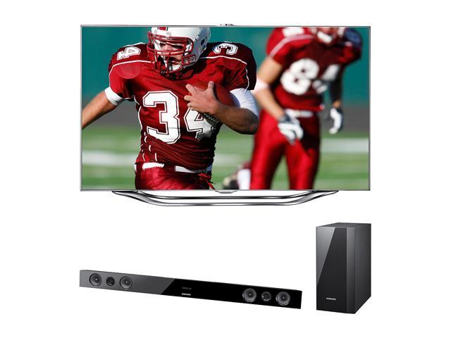 "Samsung 65"" 3-D Ready 1080p 240Hz Slim LED Smart TV and  Soundbar UN65ES8000/HWE450"