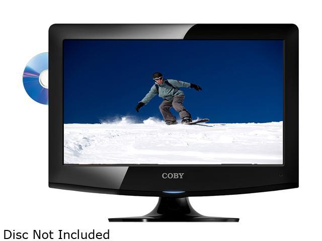 """COBY LEDVD1596 15"""" Class (15.6"""" Diag.) Black LED-Backlit HDTV with DVD Player"""