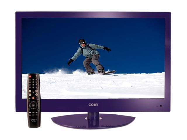 "COBY LEDVD2396PUR 23"" Purple LED-Backlit HDTV with DVD Player"