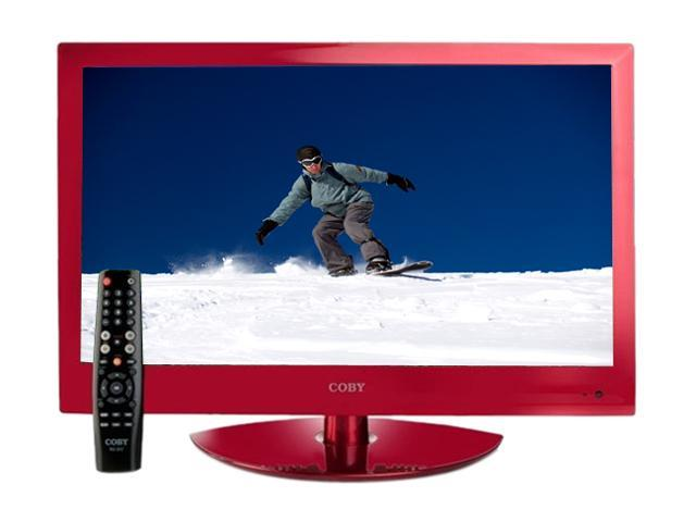 "COBY LEDVD2396RED 23"" Red LED-Backlit HDTV with DVD Player"
